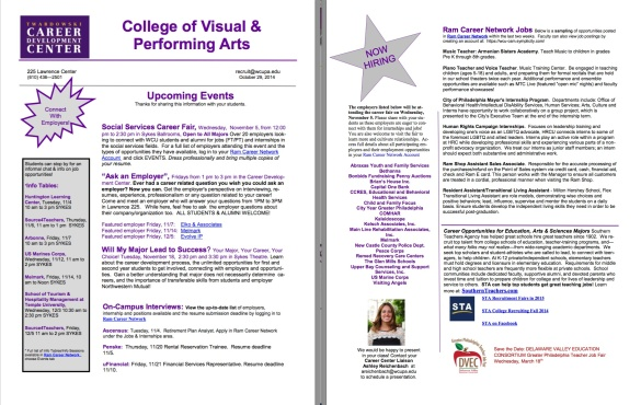 Career Center Newsletter October 14