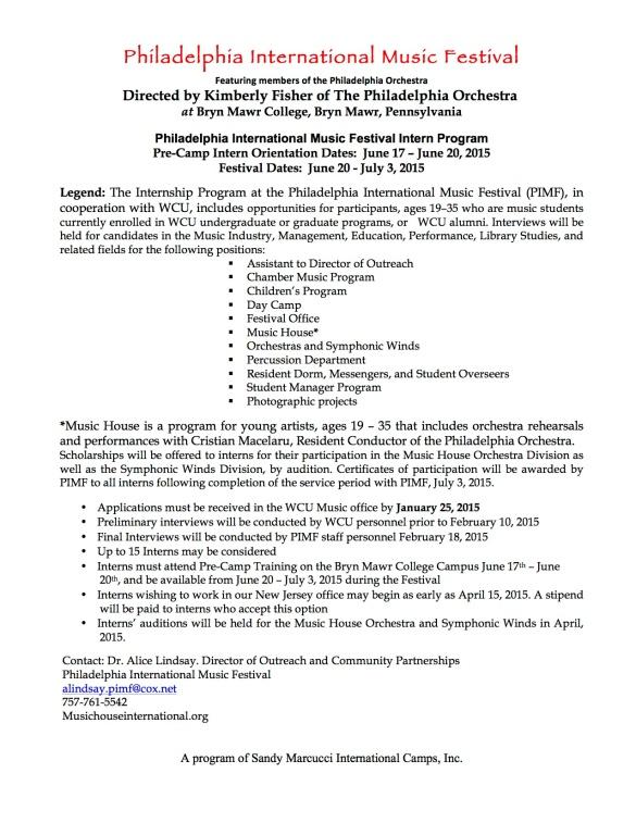 PIMF Intern Program Outline