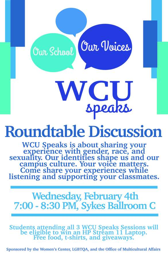 WCU SPEAKS 2.4 Flyer