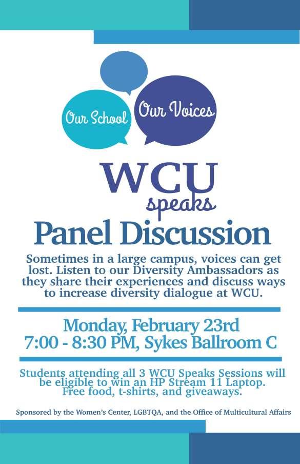 WCU SPEAKS PANEL 2.23.15